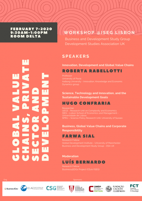 """Workshop """"Global Value Chains, Private Sector and Development"""""""