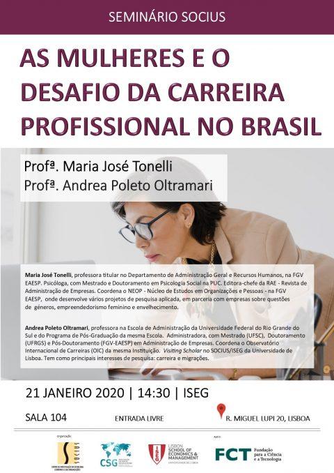 """Seminário """"As Mulheres e o Desafio da Carreira Profissional no Brasil"""""""