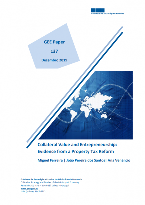 "Artigo ""Collateral Value and Entrepreneurship: Evidence from a Property"" (2019), premiado pelo GEE e APS"