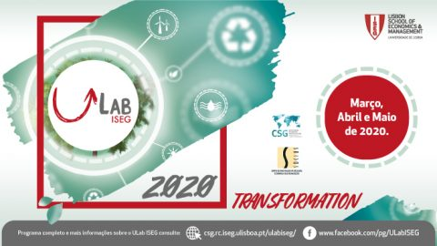 """Transformation 2020"" – Ciclo de eventos ULab ISEG"