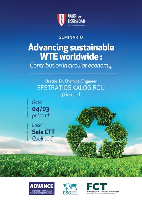 "Seminário ""Advancing Sustainable WTE Worldwide: Contribution In Circular Economy"""