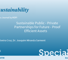 """Call for papers to the Special Issue: """"Sustainable Public-Private Partnerships for Future-Proof Efficient Assets"""""""
