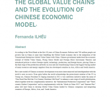 "Novo working-paper ""The Global Value Chains and the Evolution of Chinese Economic Model"", de Fernanda Ilhéu"