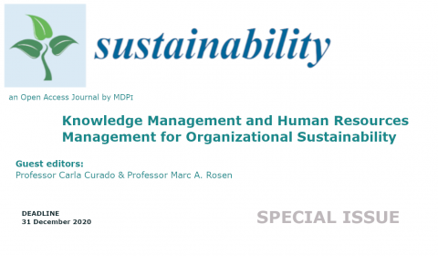 "Call for papers for the Special Issue ""Knowledge Management and Human Resources Management for Organizational Sustainability"""