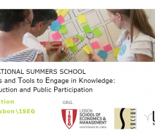 "Escola de Verão  Internacional ""Concepts and tools to engage in knowledge co-production and public participation"" – Adiada"