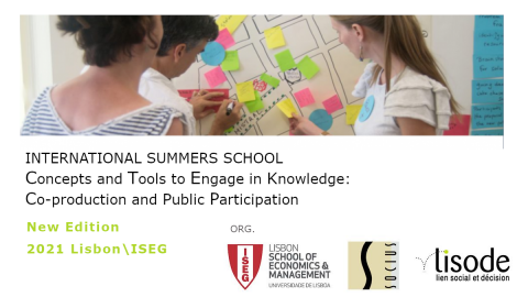 "International Summer School ""Concepts and tools to engage in knowledge production and public participation"" – Postponed"