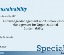 """Chamada de trabalhos para o Special Issue """"Knowledge Management and Human Resources Management for Organizational Sustainability"""""""