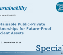 """Extended Call for papers to the Special Issue: """"Sustainable Public-Private Partnerships for Future-Proof Efficient Assets"""""""