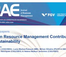 """Chamada de trabalhos para o Número Especial """"Human Resource Management Contribution to Sustainability"""""""