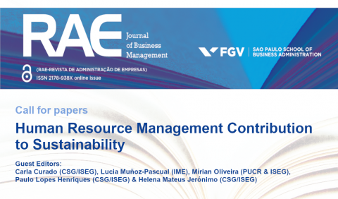 "Call for papers to the Special Issue: ""Human Resource Management Contribution to Sustainability"""