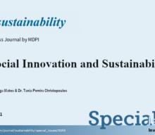 """Chamada de trabalhos para o Número Especial: """"Social Innovation and Sustainability"""""""