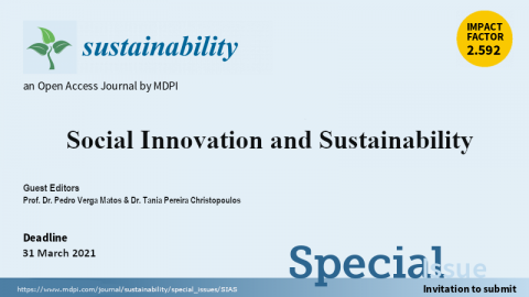 """Call for papers Special Issue: """"Social Innovation and Sustainability"""""""