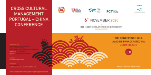 Cross Cultural Management Portugal-China Conference | Inscrições abertas