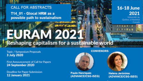 "EURAM 2021 | Call for abstracts to the track ""Glocal HRM as a possible path to sustainalism"""