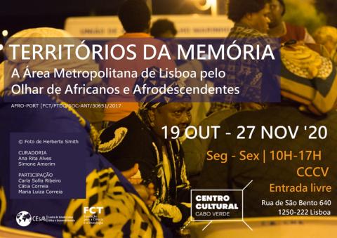 """Projecto AFROPORT inaugura exposição inaugura a exposição """"Territórios da Memória: A Área Metropolitana de Lisboa pelo Olhar de Africanos e Afrodescendentes"""""""