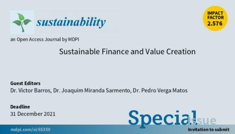 "Chamada de trabalhos para o Número Especial ""Sustainable Finance and Value Creation"""