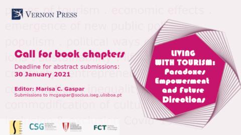 "Chamada para capítulo de livro: ""Living with Tourism: Paradoxes, Empowerment and Future Directions"""