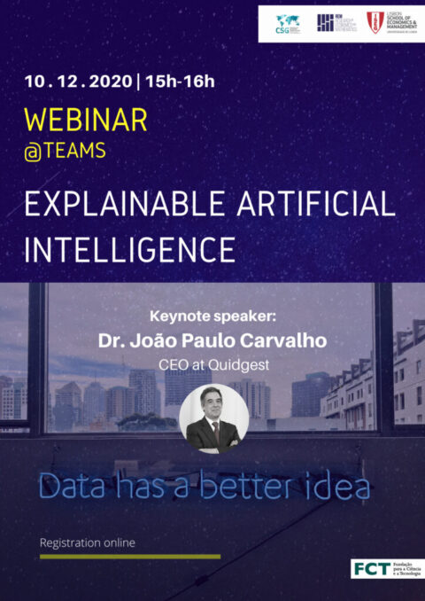 "Webinar ""Explainable Artificial Intelligence"""
