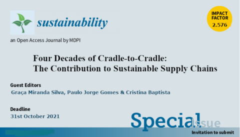 "Chamada de trabalhos para Número Especial ""Four Decades of Cradle-to-Cradle: The Contribution to Sustainable Supply Chains"""