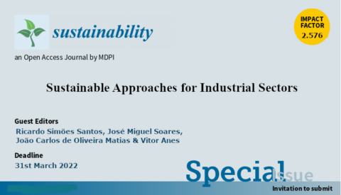 "Chamada de trabalhos para o Número Especial ""Sustainable Approaches for Industrial Sectors"""