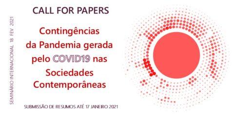 """Seminário Internacional """"Contingências da Pandemia gerada pelo Covid-19 nas Sociedades Contemporâneas"""""""