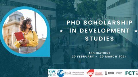 Concurso Bolsa de Doutoramento em Estudos de Desenvolvimento