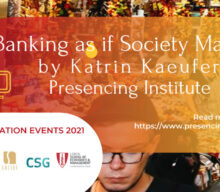 """Transformation Cycle 2021 – """"Banking as if Society Matters"""""""