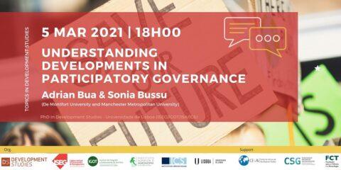 Tópicos em Estudos de Desenvolvimento Webinar «Understanding Developments in Participatory Governance»