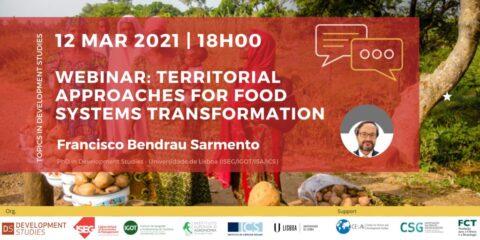 Tópicos em Estudos de Desenvolvimento Webinar «Territorial approaches for food systems transformation»