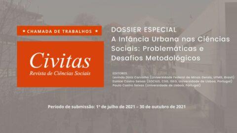 """Chamada de artigos para o Dossier """"A Infância Urbana nas Ciências Sociais: Problemáticas e Desafios Metodológicos"""""""