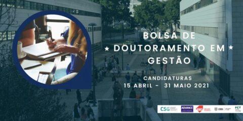 Concurso para atribuição de Bolsa de Doutoramento em Gestão