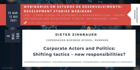 Webinar em Estudos de Desenvolvimento: Corporate Actores and Politics – New responsabilities?