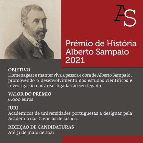 Prémio de História Alberto Sampaio 2021