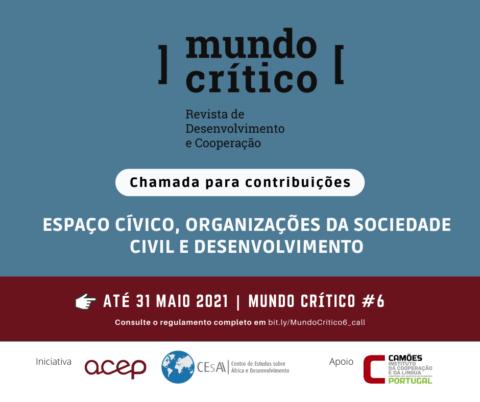 Chamadade contribuições para o Nº6 da Mundo Crítico – Revista de Desenvolvimento e Cooperação