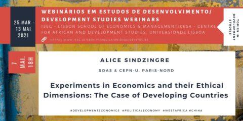 Tópicos em Estudos de Desenvolvimento: Experiments in Economics and their Ethical Dimensions – The Case of Developing Countries