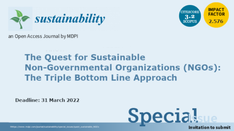 """Chamada de trabalhos para o número especial """"The Quest for Sustainable Non-Governmental Organizations (NGOs): The Triple Bottom Line Approach"""""""