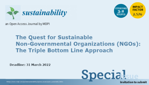 """Call for papers to the Special Issue """"The Quest for Sustainable Non-Governmental Organizations (NGOs): The Triple Bottom Line Approach"""""""