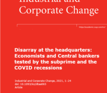 """Novo artigo """"Disarray at the headquarters: Economists and Central bankers tested by the subprime and the COVID recessions"""""""
