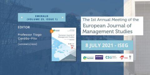 Disponível o Programa e inscrição online do 1º Encontro Anual do European Journal of Management Studies (EJMS)