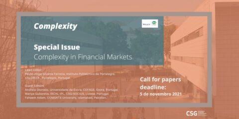 "Chamada de trabalhos número especial ""Complexity in Financial Markets"""