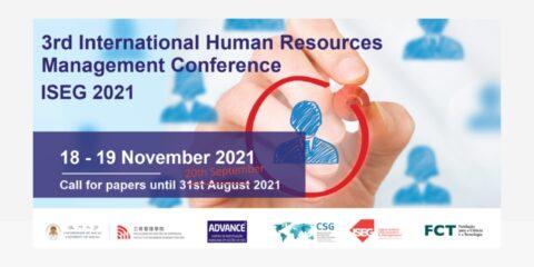 Prolongada a chamada de trabalhos para a 3ª Edição da Conferência Internacional de Gestão de Recursos Humanos